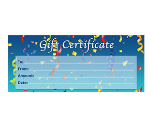 This is a preview of the Confetti Gift Certificate