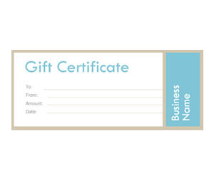 This is a preview of the Modern Metallic Gift Certificate