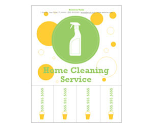 This is a preview of the Cleaning Service Flyer
