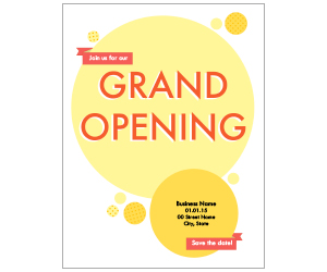 This is a preview of the Dots Grand Opening Flyer