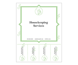 This is a preview of the Housekeeper Tear Flyer