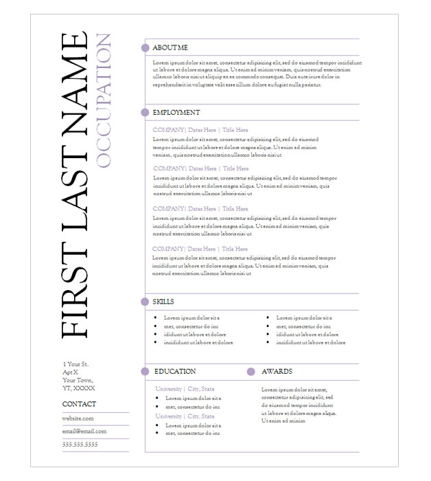 This is a preview of the Purple Lines Resume